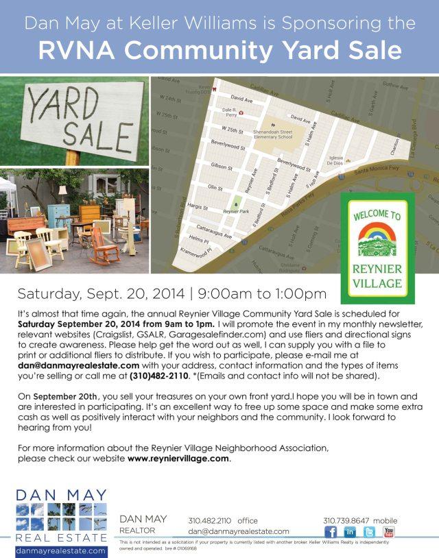 2014 RVNA Yard Sale